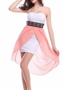 Vestido de mediano cinta de diamante irregulares cinta para el pelo rosa