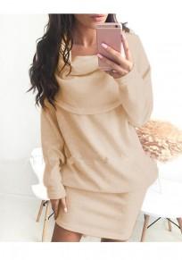 Mini abito normale colletto da turismo moda albicocca