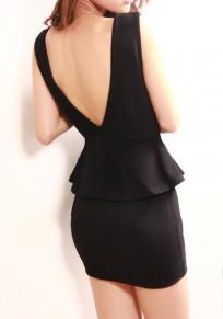 Mini vestido colmena adina colmena adina sin mangas cóctel negro