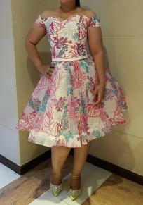 Vestido A media pierna bordado drapeado adina fuera del hombro fiesta de bienvenida elegante rosa