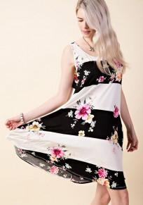 Mini robe imprimé col rond mode rose