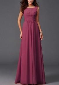Burgunder drapierte Bodycon für Brautkleider Elegante Partei Chiffon Maxi-Kleid