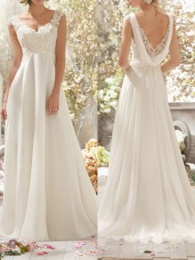 White Patchwork Draped Lace Backless V-neck Sleeveless Cocktail Party Bridesmaid Elegant Maxi Dress