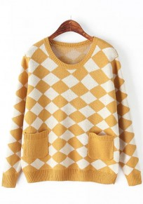 Ginger Geometric Pockets Pullover