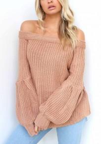 Maglione manica A campana lavorata A maglia A maniche corte rosa