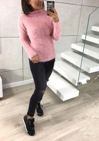 Jersey informal de manga larga con cuello redondo