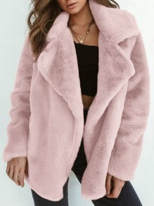 Pink Print Turndown Collar Fashion Cardigan Sweater