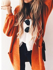 Gilet manches longues casual orange