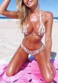 Maillot de bain imprimé pastèque bretelle v-col profond dos nu pièces beachwear doux blanc