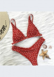 Maillot de bain amour 2-en-1 bretelle v-mode rouge