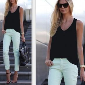 T-shirt manches courtes sans manches sorties noir