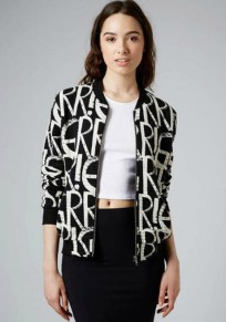 Black Monogram Pockets Print Trench Coat