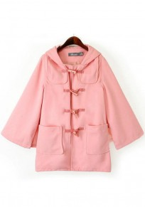 Pink Plain Hooded Cape