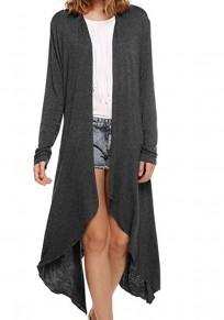 Vêtements d'extérieur irréguliers manches longues cardigan de mode gris
