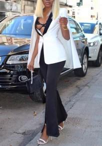 Weiße Knöpfe Bodycon tiefer V-Ausschnitt Büroangestellter / Täglich Eleganter Mantel Cardigan Mantel