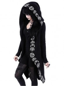Manteau restyle witchcraft oversized capuche mode punk gothic alternative veste noir femme