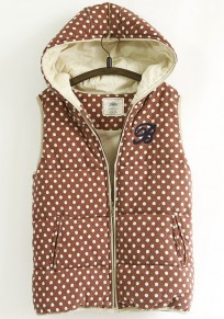 Red Polka Dot Embroidery Vest