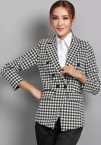 Black-White Swallow Gird Blazer