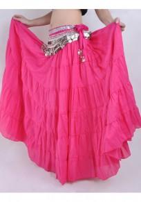 Jupe rose framboise drapé aiguisé une ligne haute taille bohème gitane longue