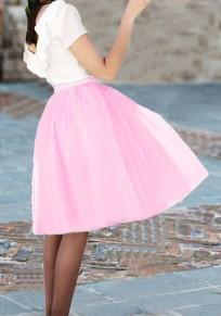 Rosa Granatapfellikör drapierte flauschige Geschwollen Tüll Tutu Homecoming Partei süße Rock
