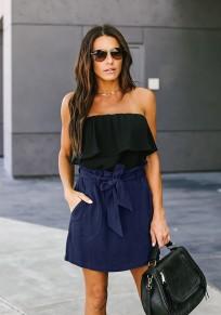 Blaue Taschen Schärpen Mode Rock