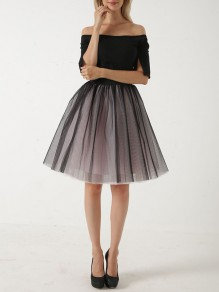 Pink Patchwork Grenadine Pleated Sweet Short Skirt