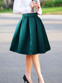 Green Pleated Tutu High Waisted Homecoming St.Patrick's Day Party Cute Skirt