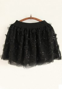 Black Plain Wrap Chiffon Skirt