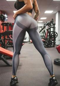 Leggings splice push up yoga sport fitness femme gris