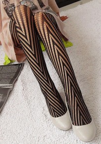 Black Cut Out Elastic Waist Fashion Long Leggings
