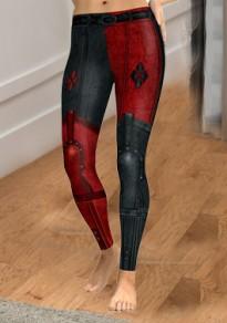 Schwarz Clown Druck Hohe Taille Harley Quinn Sports Stretch Yoga Sock Leggings