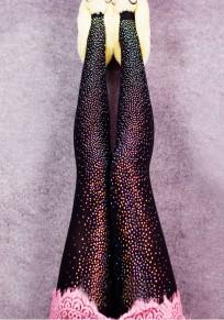 Schwarze Strass Glitzer Hohe Taille Skinny Sport Leggings Damen Mode