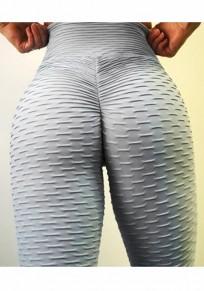 Grau Hohe Taille Push Up Schlank Fitness Lange Yaga Leggings Damen Jogginghose Günstig