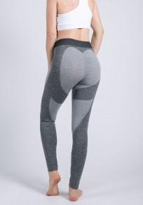 Dark Grey Heat Butt Print High Waisted Sports Yoga Workout Long Legging
