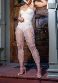Weiße Granatapfellikör die hoch taillierte reine Bodycon Clunwear Partei lange Legging bördelt