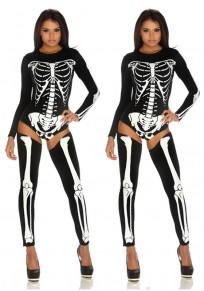 Tuta il vampiro di halloween costumi fantasma scheletro sposa lungo la regina nero