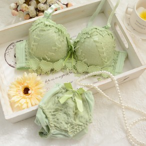 Green Lace Bow 2-in-1 Cute Short Jumpsuit