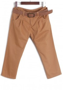 Khaki High Waist Seven's Skinny Cotton Blend Pants