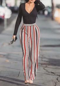 Pantalones mujeres A rayas sueltas sueltas moda ancho pierna boho