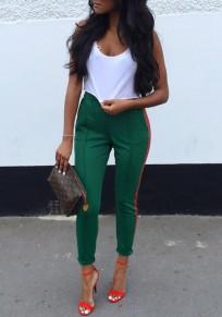 Pantalon rayé rouge à mode taille haute st. jour de la patrick vert