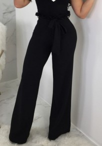 Black Bow High Waisted Office Worker/Daily Going out Pant