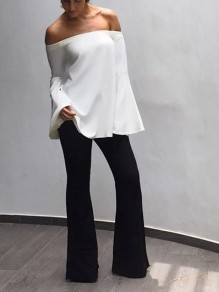 Black Velvet Disco Party High Waisted Bell Bottomed Flares Long Pants