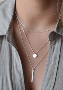 Silver Fashion Alloy Pendant Necklace