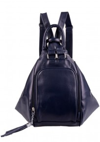 Sapphire Blue Tassel Cotton Lining PU Leather Backpack