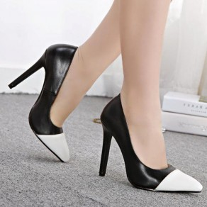 Black Point Toe Stiletto Casual High-Heeled Shoes