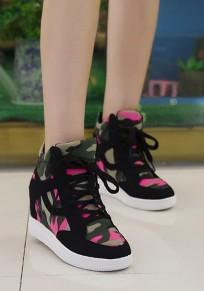 Chaussures bout rond lacet plat décontracté noir