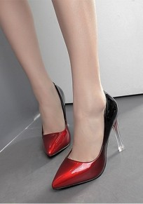 Red Point Toe Stilleto Fashion High-Heeled Shoes