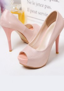 Pink Piscine Mouth Stiletto Casual High-Heeled Sandals