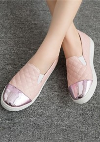 Pink Round Toe Flat Casual Shoes