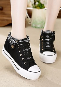 Black Within The Higher Casual Heavy-Soled Shoes